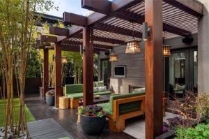 kanopi kayu modern