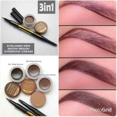 Lanbis Eyebrow Gel Eyeliner Brush 3 in1