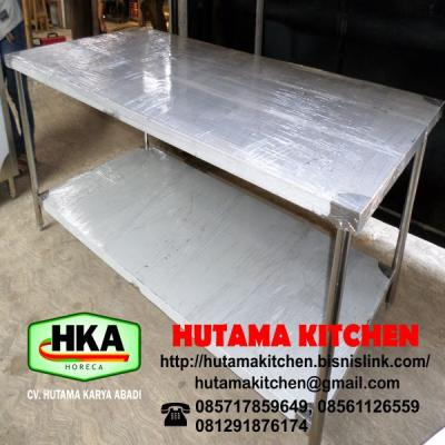 STAINLESS STEEL WORKING TABLE SISTEM KNOCK DOWN