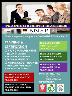 Training kompetensi HR BNSP