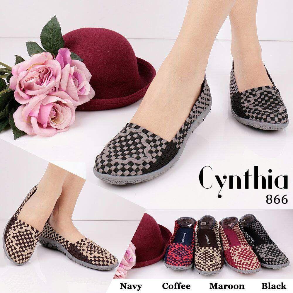 081318197899 Grosir Sepatu Anyam Flat Cynthia Terbaru 866