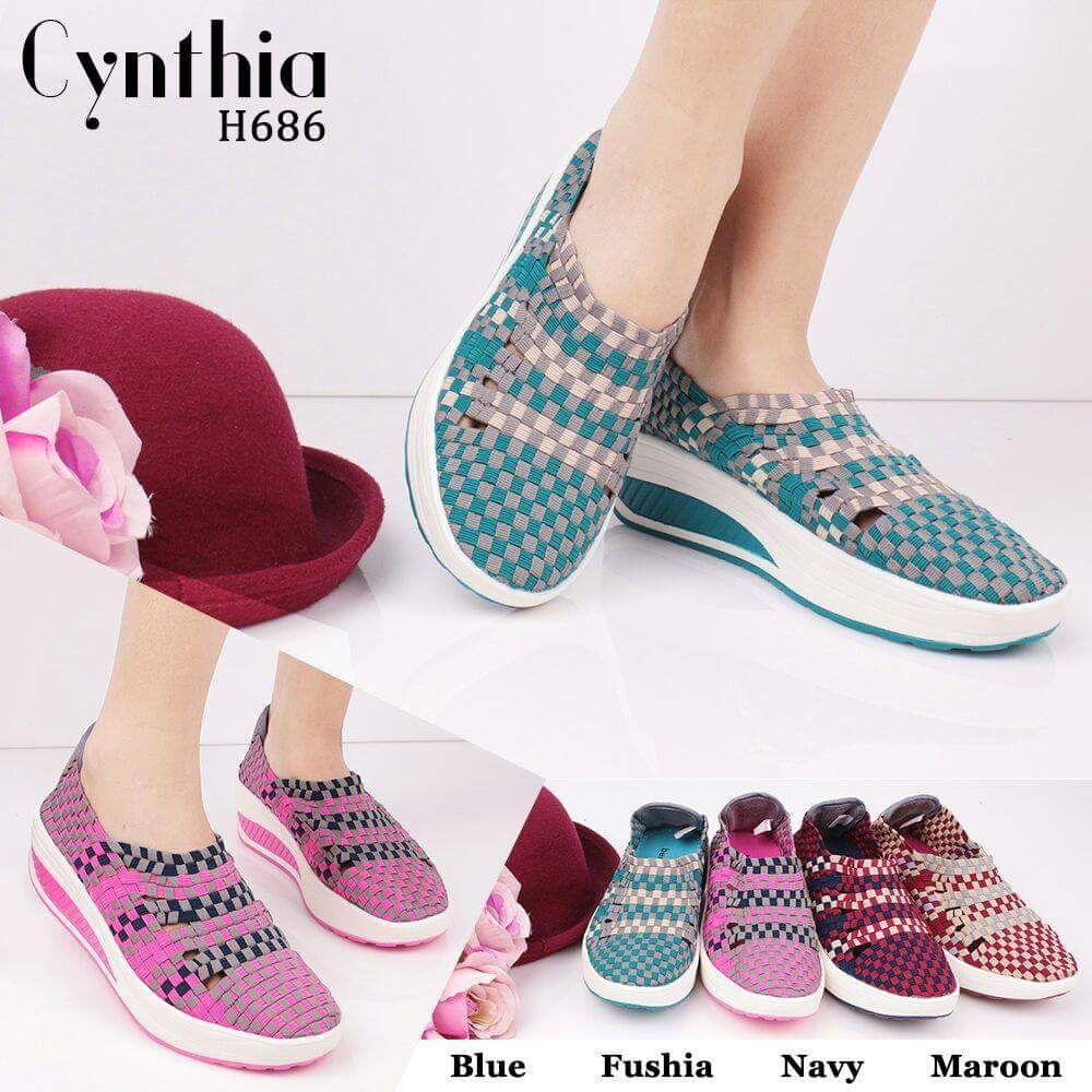 081318197899 Sepatu Anyam Cynthia Terbaru H686