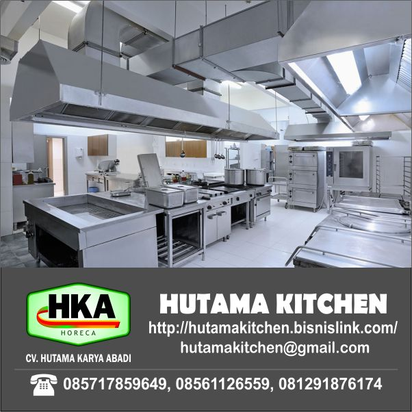 HUTAMA KITCHEN MENERIMA INSTALASI DUCTING (EXHAUST HOOD) DAN FABRICATION
