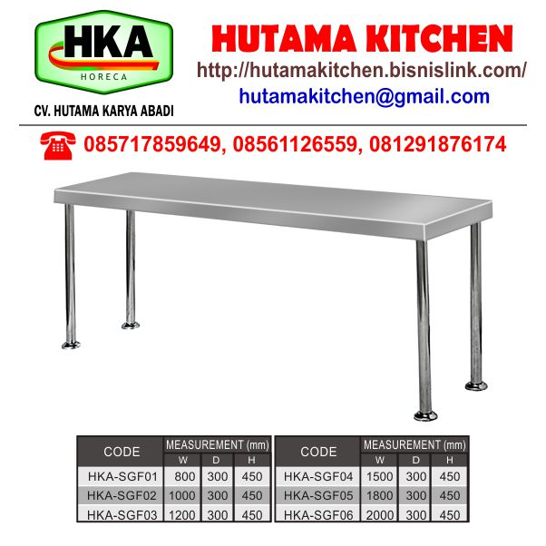 HUTAMA KITCHEN MENJUAL RAK DAPUR TAMBAHAN FULL STAINLESS STEEL OVER SHELVES