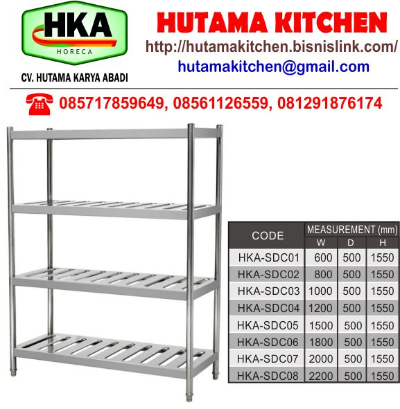 RAK DAPUR STAINLESS STEEL
